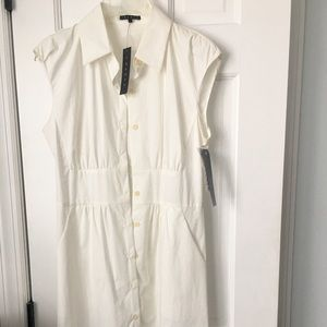NWT Theory white sleeveless dress